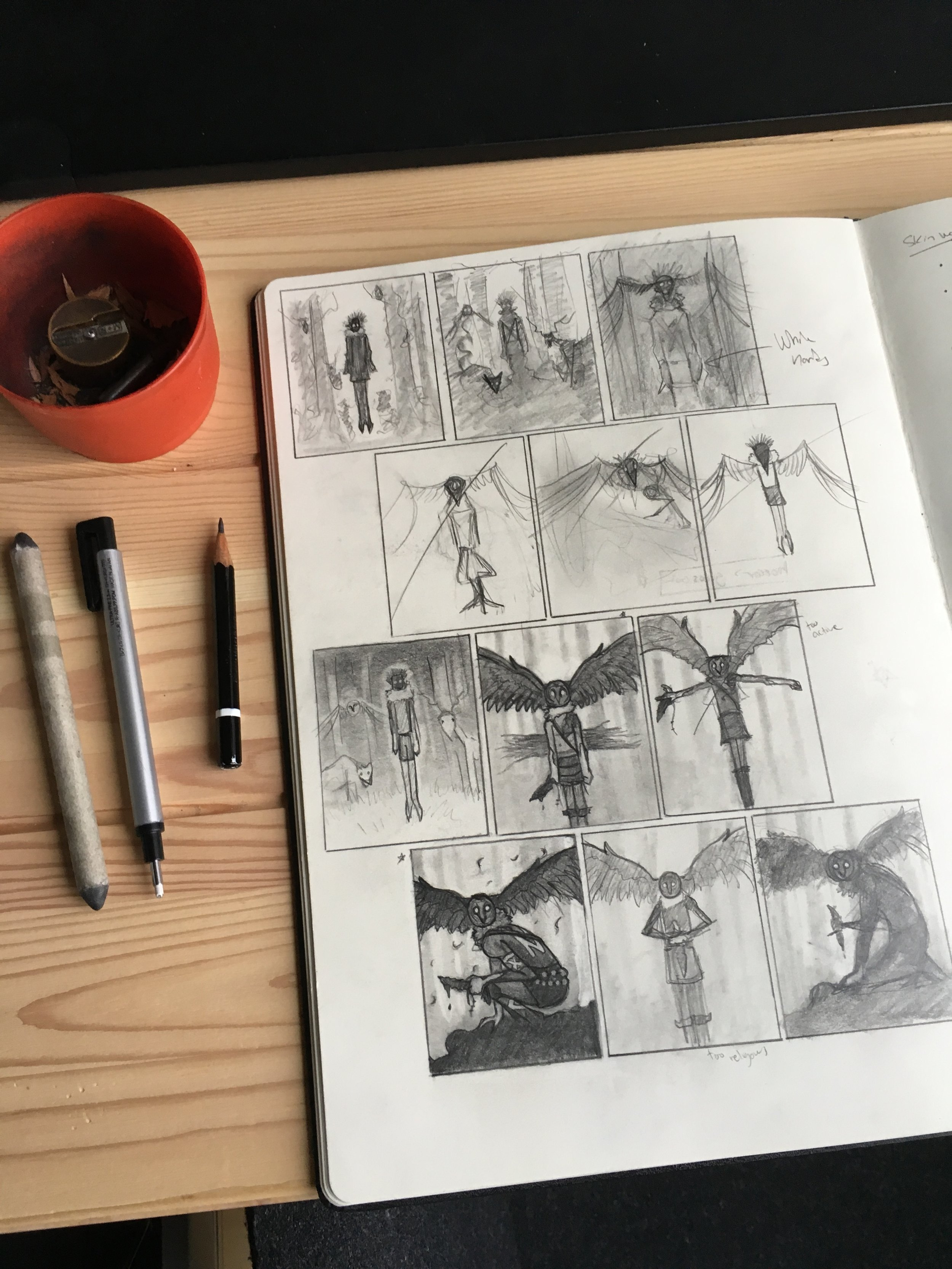 Skinwalker Thumbnail Drawings