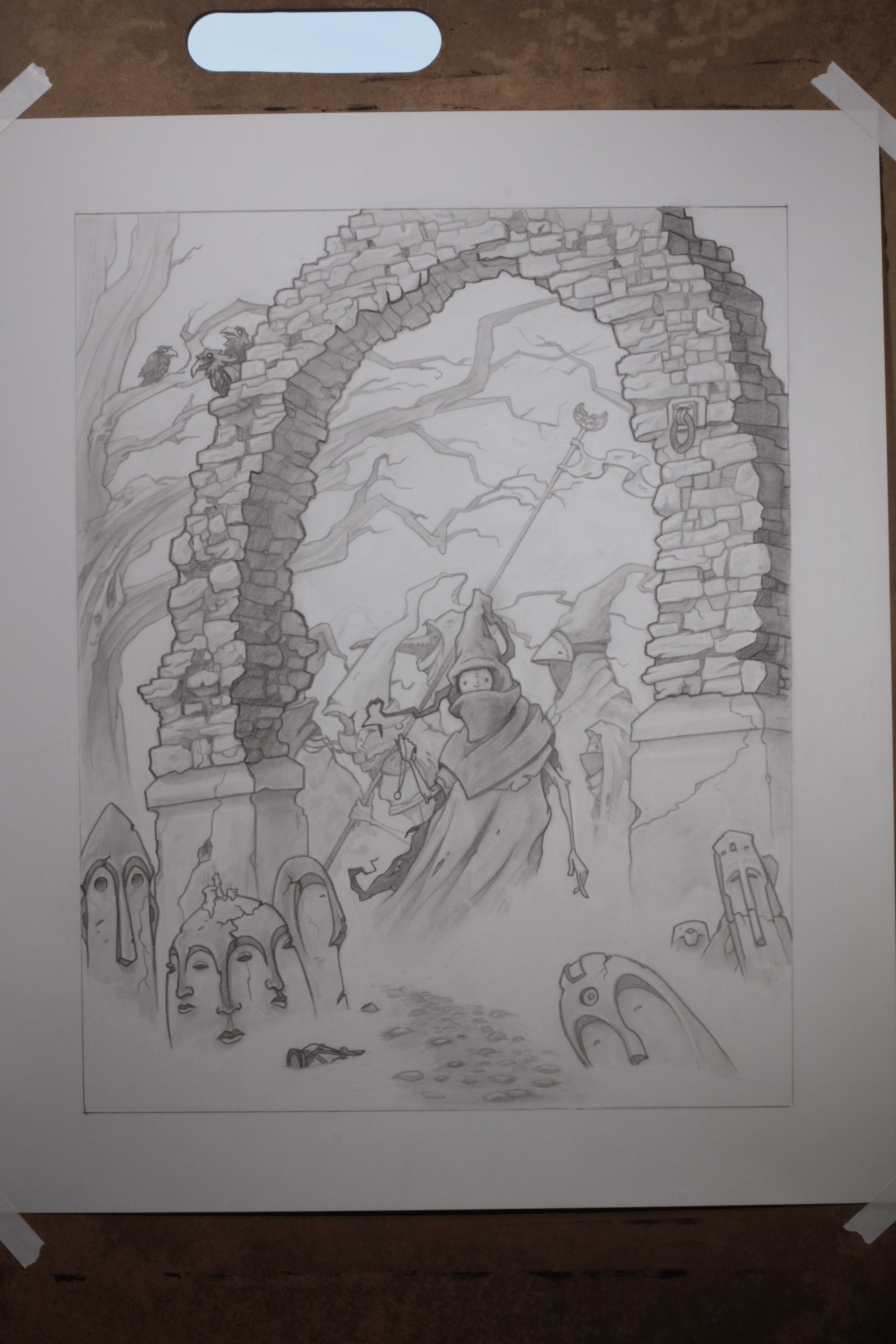The Gravewatchers original drawing