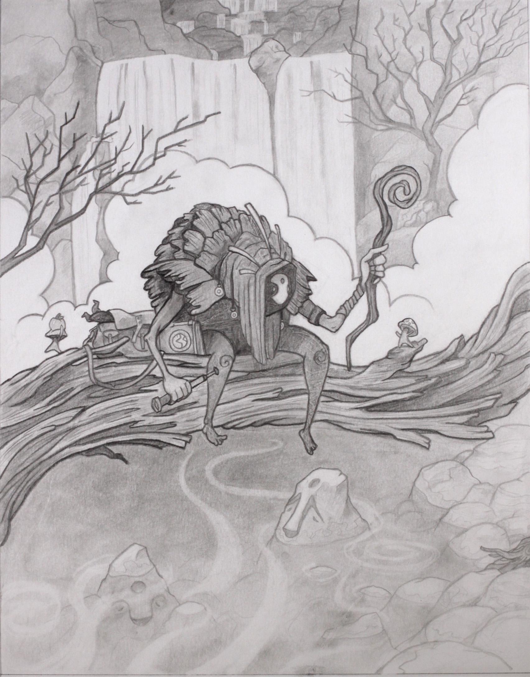 The Light Seeker Original Drawing (Sold)