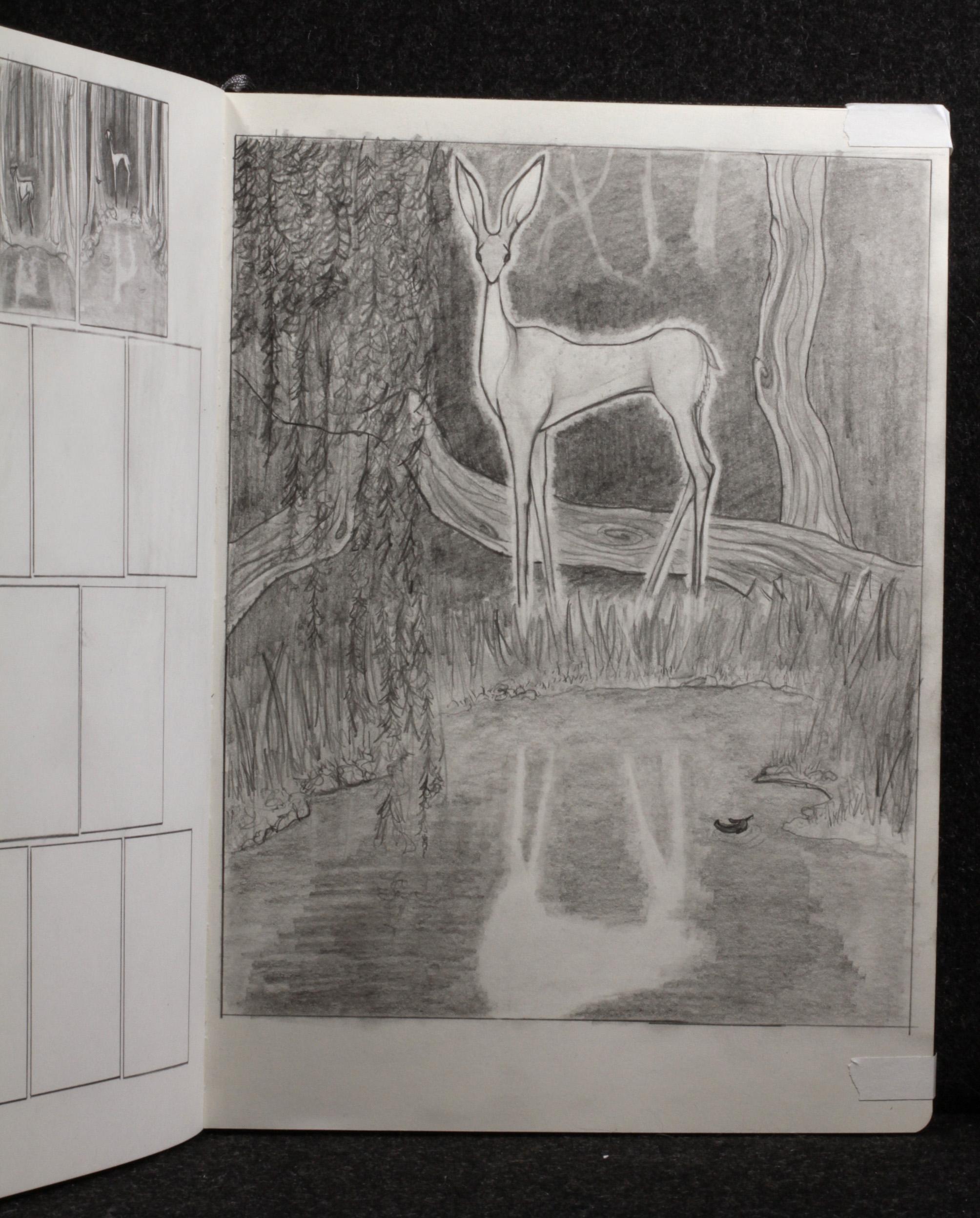 Vision of Transcendence Original Drawing