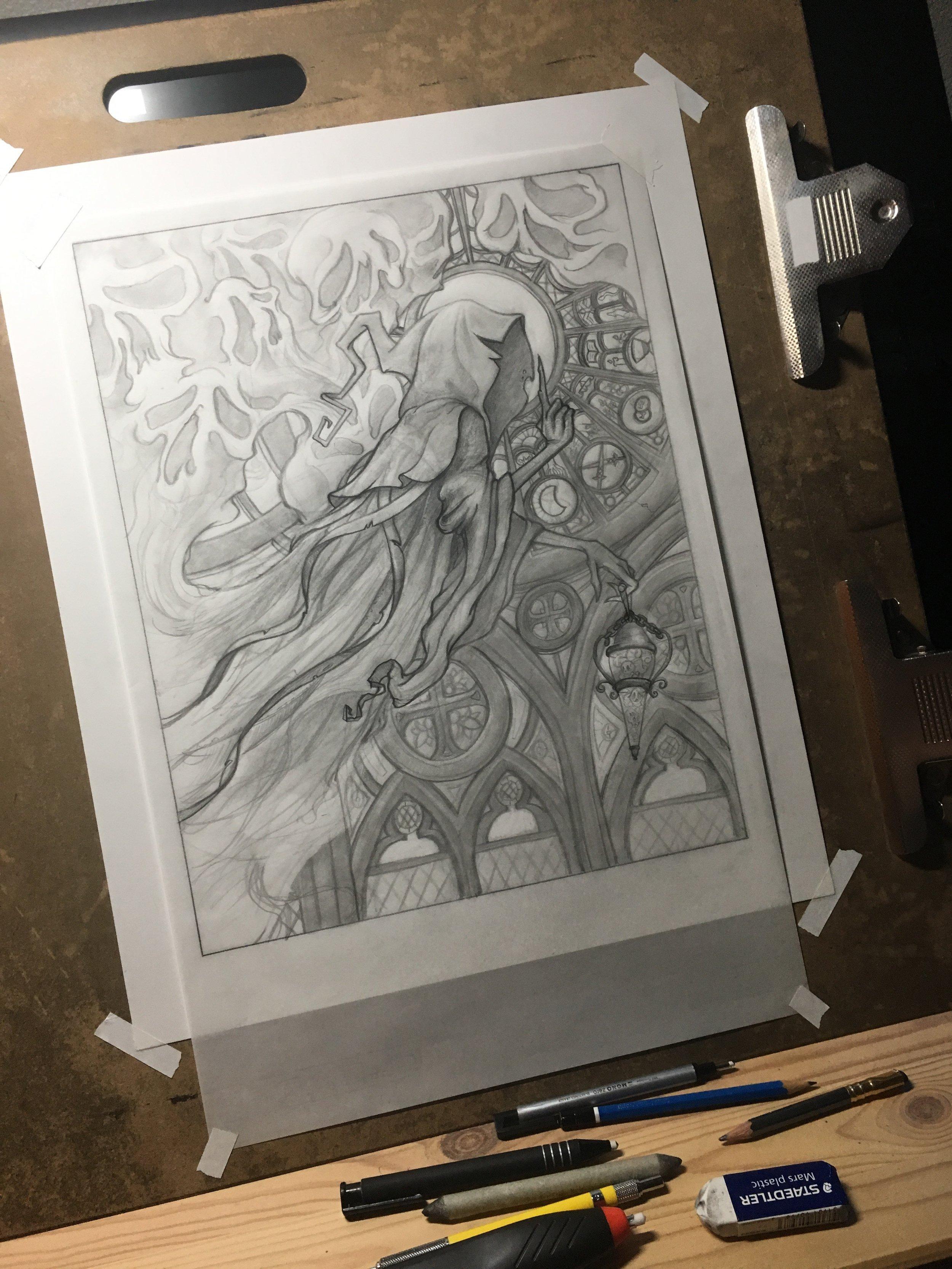 Grim Original Drawing (Sold)