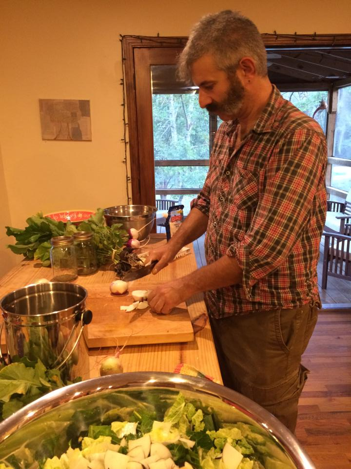 I could not believe Sandor Katz of Wild Fermentation was standing in the Homestead Kitchen!
