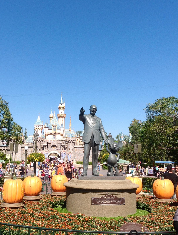Walt and the Disney Castle