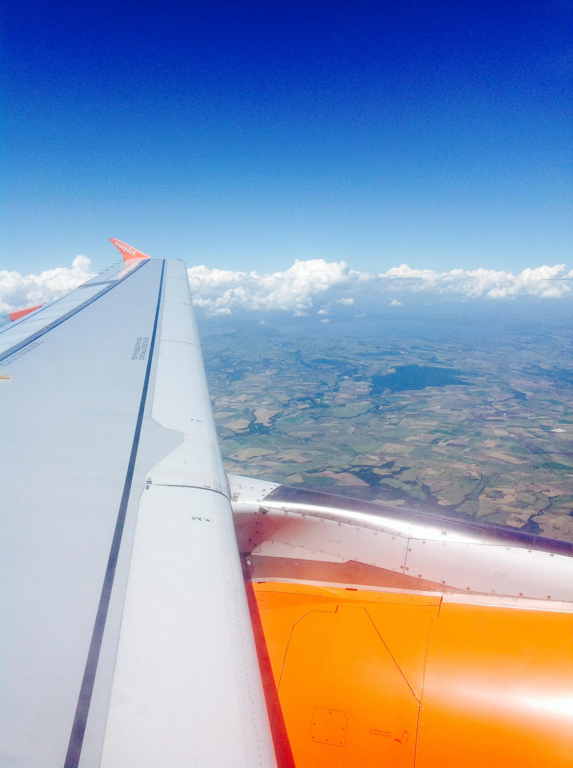 The view as we descend into Italy! And all the wing bolts  that stayed in place - BONUS!