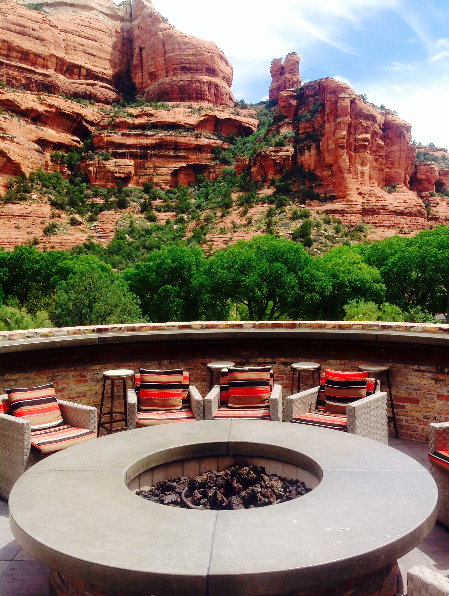Fire Pit- great place for evening drinks!