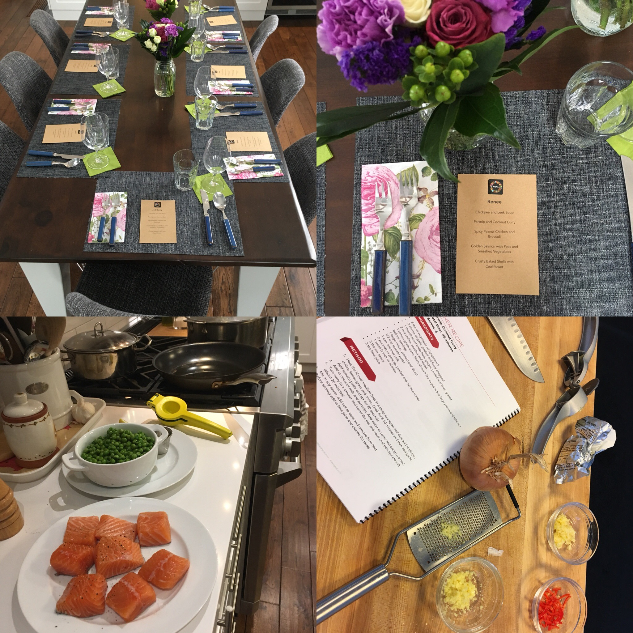 Meal Planning & Dinner Workshop - This is a fun workshop for friends to get together be served a healthy dinner to inspire new recipes for the season's meal planning adventure.