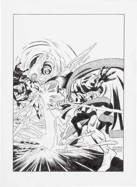 Gene Colan Dan Adkins Cover Re-Creation - Dr. Strange #172