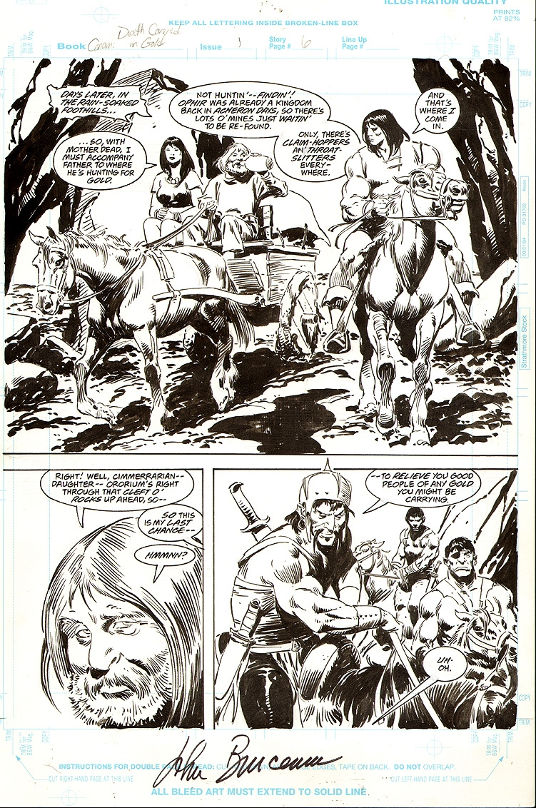 Conan Death Covered in Gold #1 pg 6