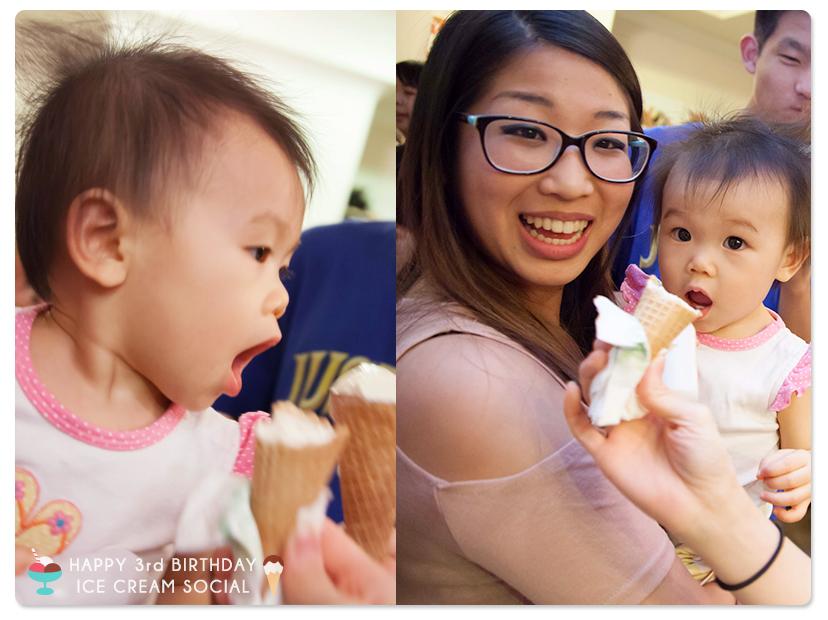 不該吃甜食的(即將)週歲小妹!     要不是有這張照片存證,媽咪我可是完全被蒙在鼓裡呢!     竟敢光明正大吃著冰淇淋