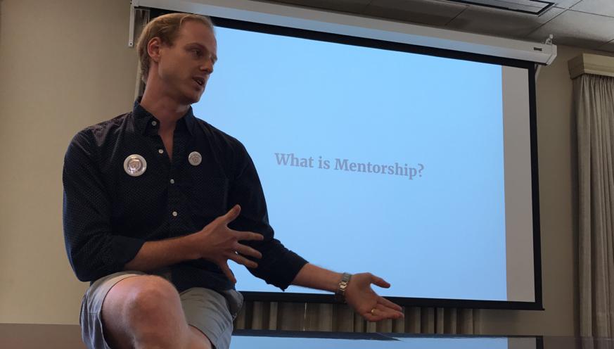 Chris sharing his vision of SP47 mentorship!