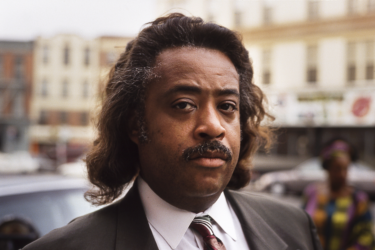The Rev. Al Sharpton poses for a photo on Flatbush Avenue, Brooklyn, NY, 1994