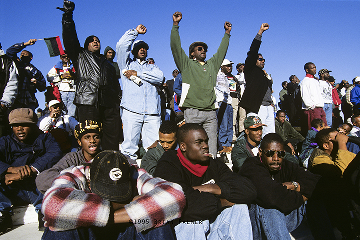 The Million Man March on the National Mall, sponsored by the Nation of Islam, Washington, DC, October 16, 1995.