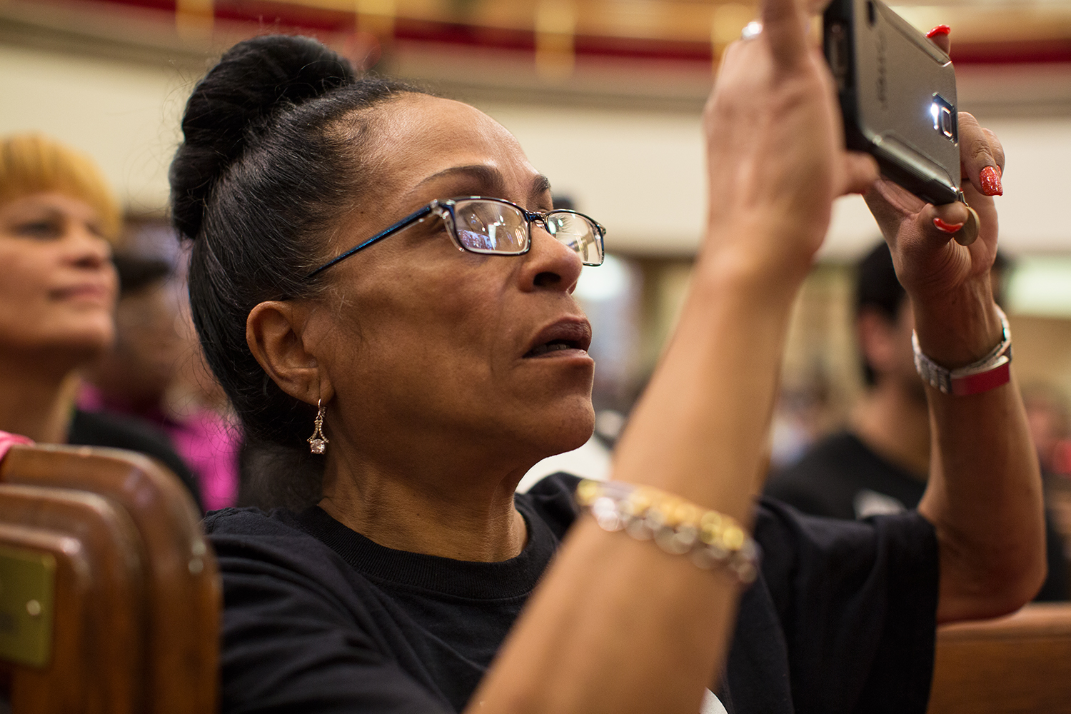 Wanda Parks of VOCAL-NY at interfaith service at Harlem's historic  Abyssinian Baptist Church  organized by advocacy group  VOCAL-NY  to call for end to the war on drugs on the eve of the United Nations General Assembly Special Session on the world drug problem ( UNGASS ), NY, NY, 2016