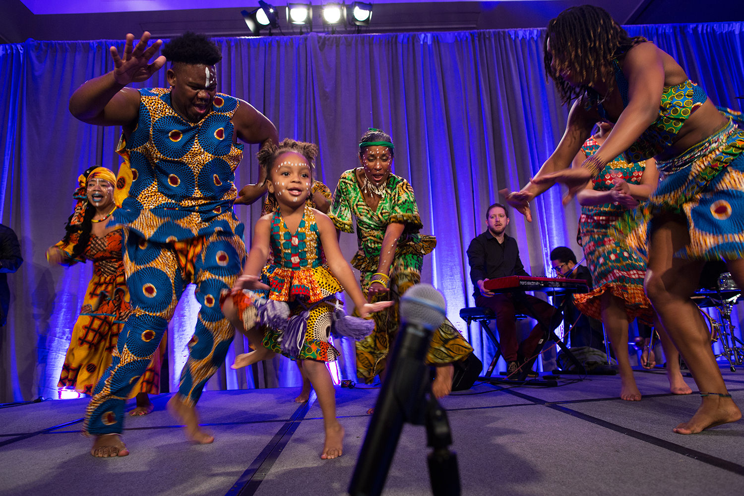 Djole Kele African Dance and Drumming Company performs in  We The People: Atlanta Remembered, Reimagined & rEvolutionized , on the opening night of Facing Race 2016, Atlanta, GA, 10 November