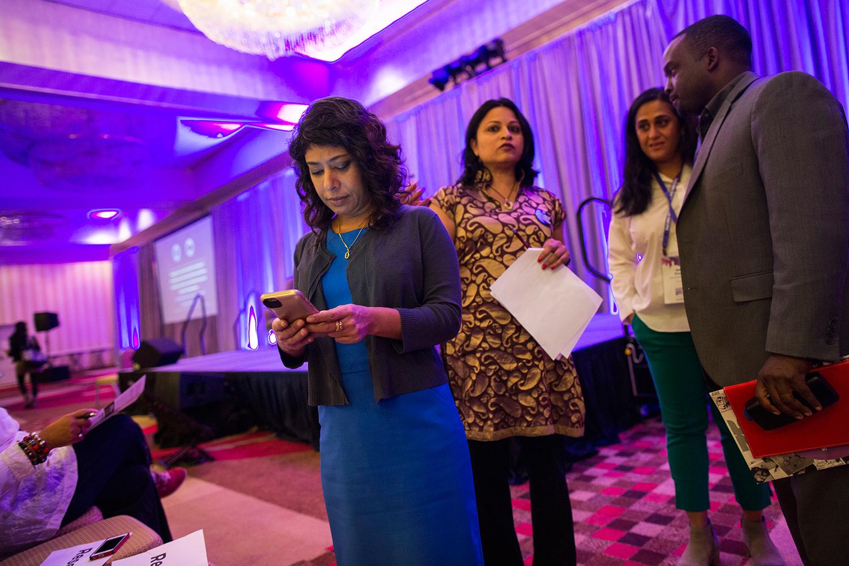 Rinku Sen, executive director of  Race Forward , convener of Facing Race 2016, a multigenerational/multiracial conference, Atlanta, GA, 11 November