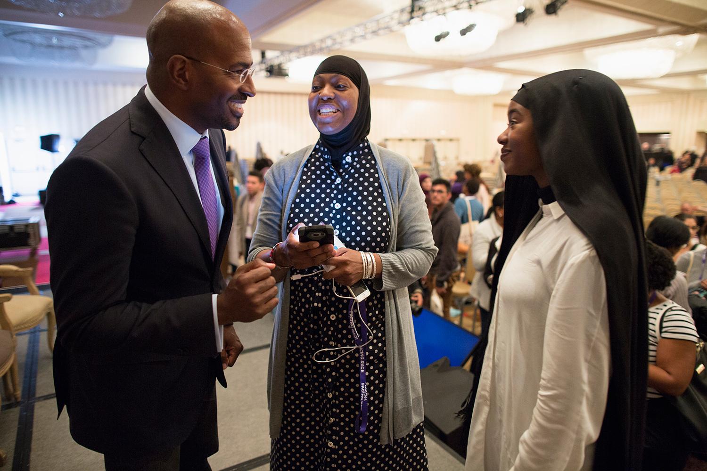 "Van Jones greets admirers after plenary session ""Where Do We Go From Here?"" at Facing Race 2016, Atlanta, GA, 12 November"