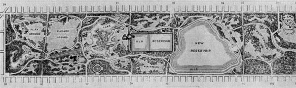 Olmsted and partner Calvert Vaux's winning Central Park design.
