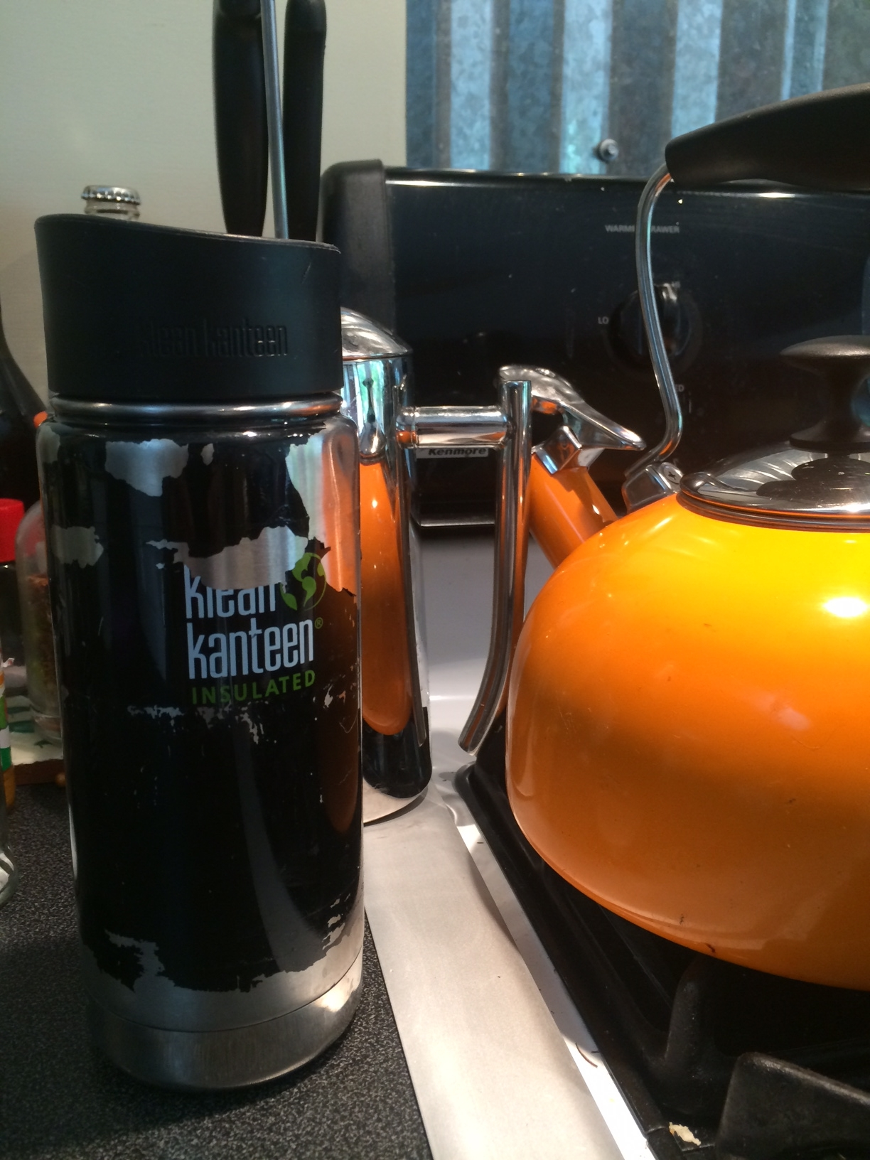 Kleen Kanteen Insulated Metal Water Bottle  Step 2:  Hot or Ice coffee