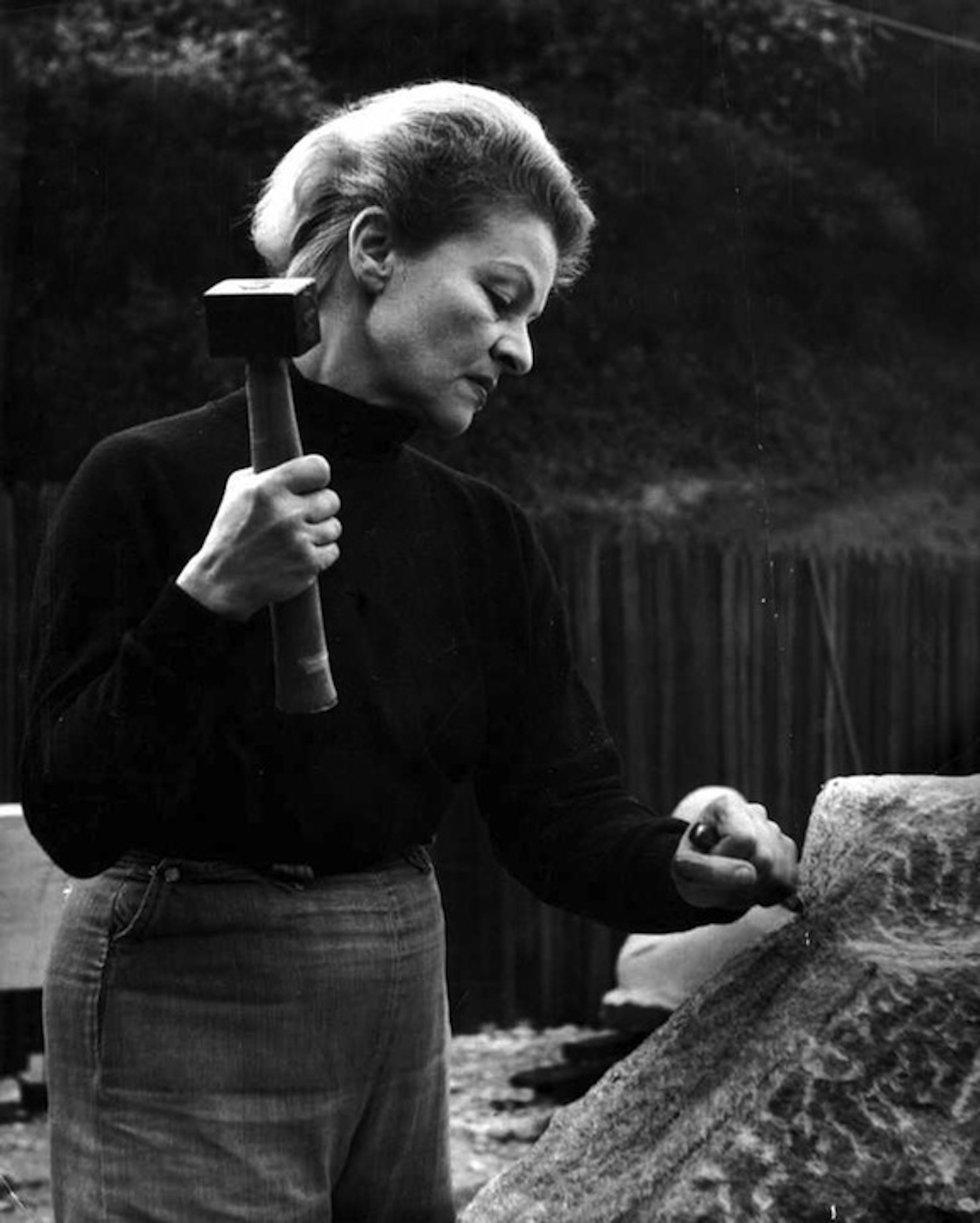 Anna Mahler at work.