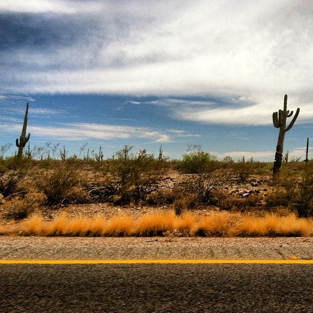 driving through Arizona desert
