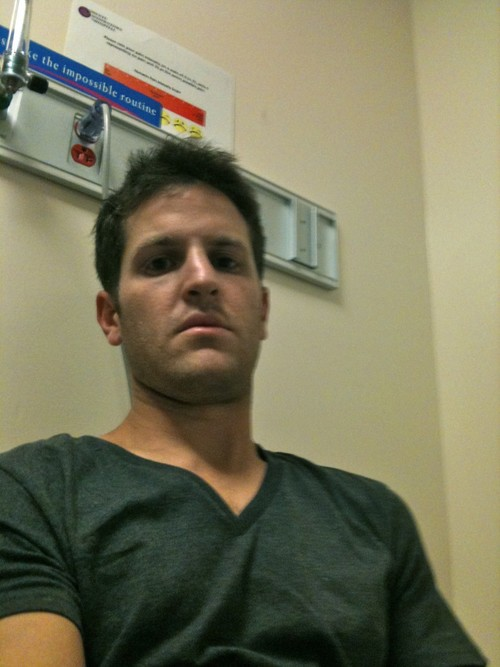 at the hospital