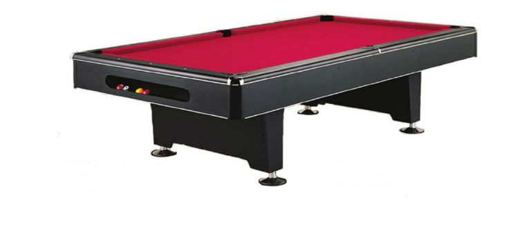 """The Eliminator   The Eliminator has a sleek, modern design built with a metal beam construction. Play like a professional with a quality 1"""" slate and K-66 Master Speed Rubber bumpers. Optional ball return system available."""