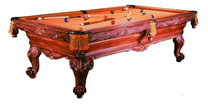 The Cavanaugh   This table epitomizes the heart of the Renaissance era. Finely carved aprons, plaques, and trim are added to a highly contoured frame. The elaborate and graceful French styled legs complement and complete this work of art.