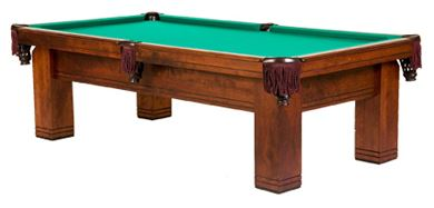 The Coronado   Designed for Commercial or Residential rooms, the Coronado's simple straight lines will complement either contemporary or antique décor settings. A great value for an American entry level pool table.