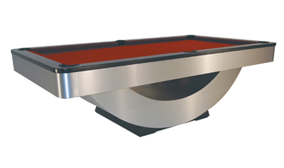 The Reverse Rainbow   Beautiful in its sleek contoured sweeping lines, the Reverse Rainbow is of museum quality and is built to tournament specifications which makes this the designer's choice when the normal pool table does not fit the bill.