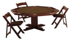 Pedestal Poker Table