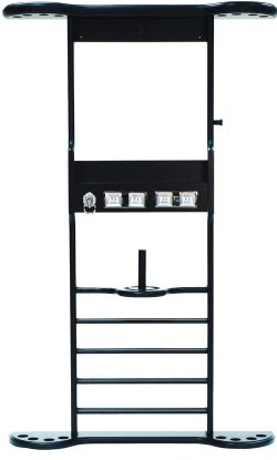 8 Cue Wall Rack - Black