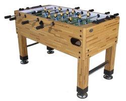 Premium Foosball Table in Butcher Block with both 1 & 3-Man Goalie