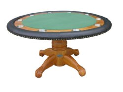 "60"" Round Poker Table w/ Optional Dining Top in Oak"