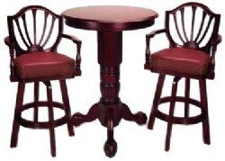 Mahogany Pedestal Pub Table Set