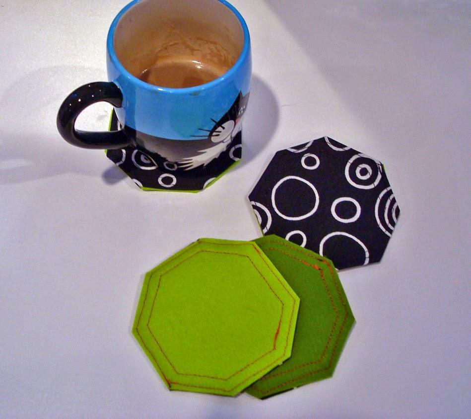 felt octagon coasters (mug by LennyMud)