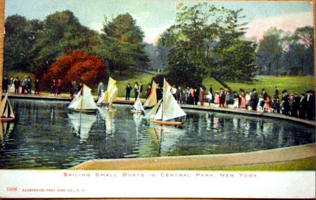 1907 Central Park Yacht Pond, New York City
