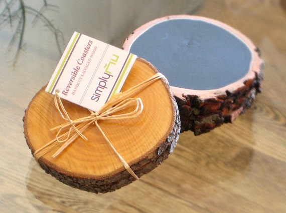 Simply Nu reclaimed wood coaster