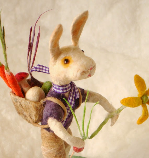 Organic Spun Cotton Easter Bunny