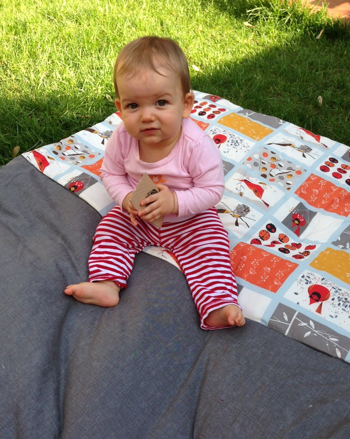 picnic blanket featuring charley harper print
