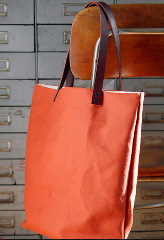 water repellent tote from Jenn Eng Studio   Peach, melon, sherbet, nectarine.... the list goes on of summer treats that we are seeing on the streets!  Tracey Toole  http://traceytoole.etsy.com/
