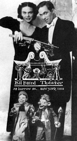 Opening in 1967, the Bil Baird Marionette Theater at 59 Barrow Street in Greenwich Village presented plays for more than a decade.