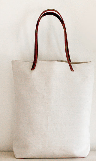 Linen Canvas Tote by jennengStudio