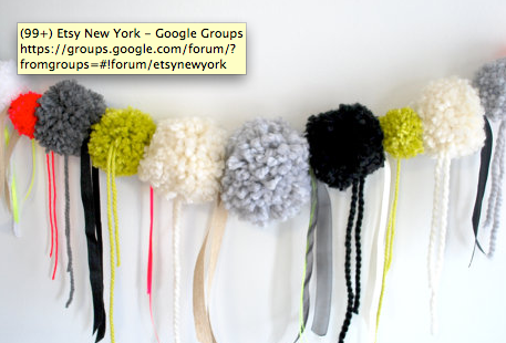 party pom poms from  little Knitty Things