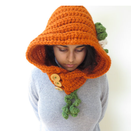 From Minerva Knits a pumpkin hoodie