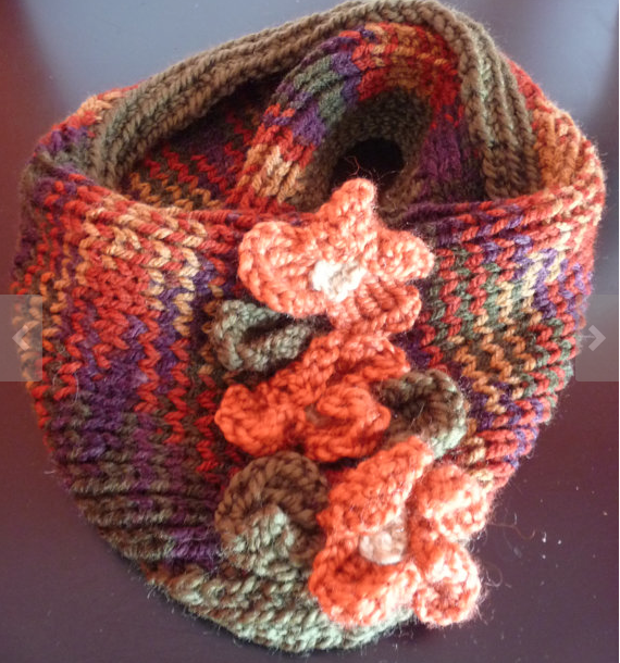 Ultimate Fall Colors Cowl made of Turkish wool blend
