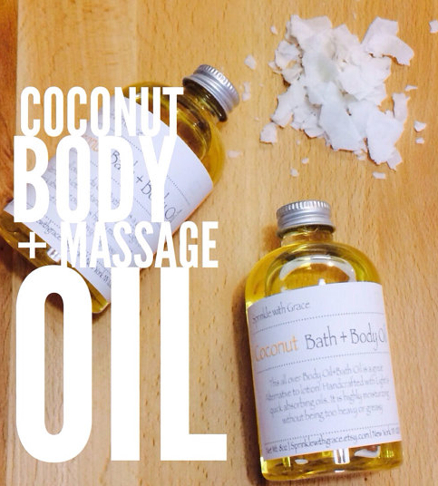 Sprinkle With Grace's Coconut Bath and Body Massage Oil