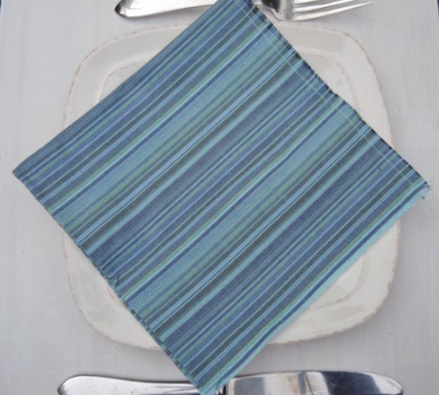 blue fringe napkin