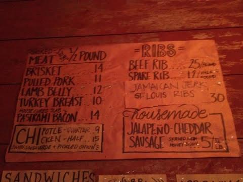 The menu at Hometown