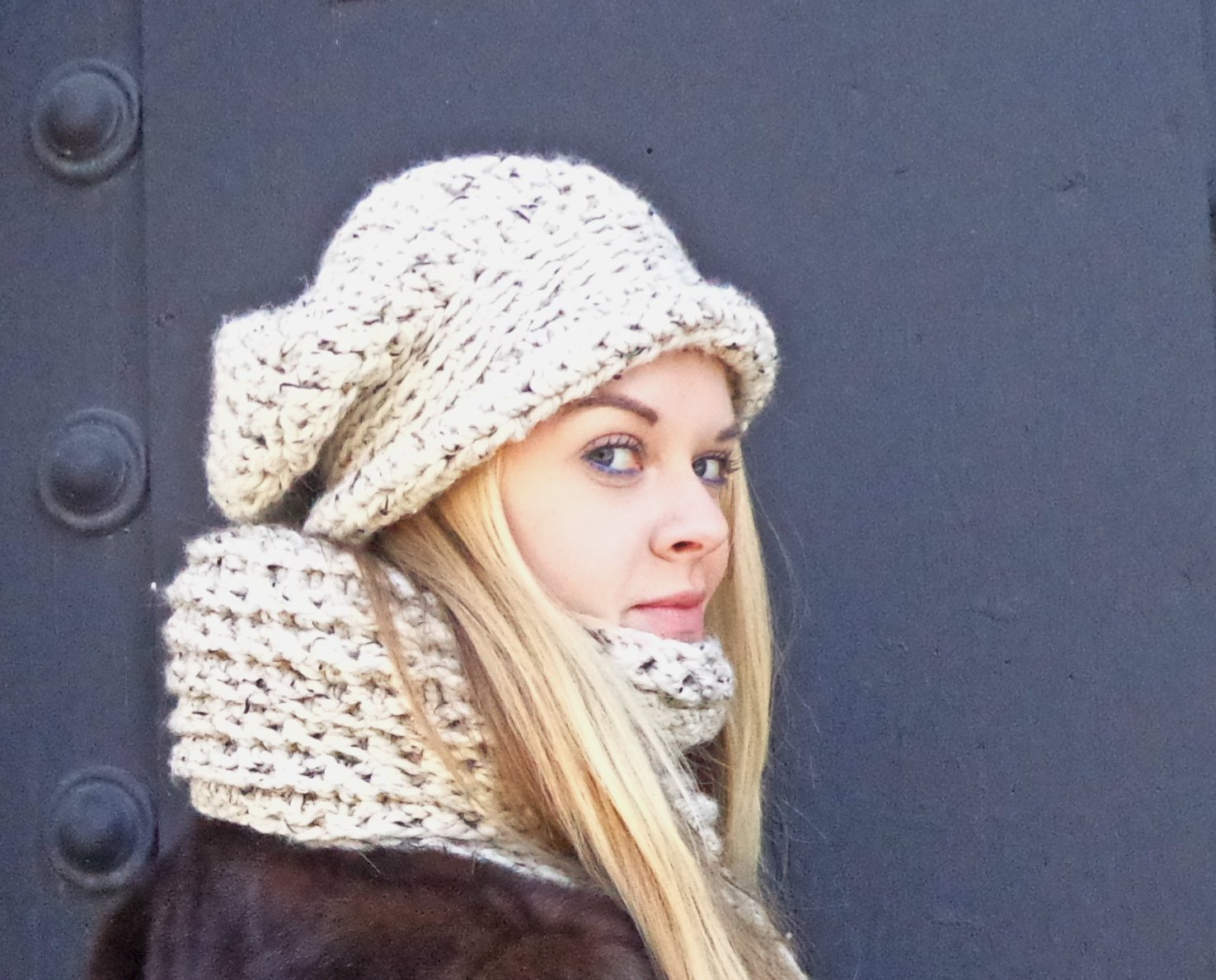 Chance-Maxi-Chunky-Slouch-with-Band-and-Fold-up-Brim-and-Naylor-Maxi-Chunky-Scarf-with-Fringe-Oatmeal-Angled-View.jpg