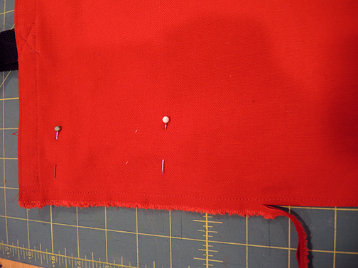 french seam, cut the seam down to 1/8""